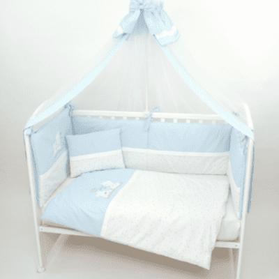 Posteljina Medo 3 elementa – svijetlo plava
