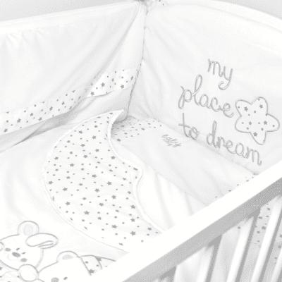 Posteljina Baby Way Mjesec – bijela