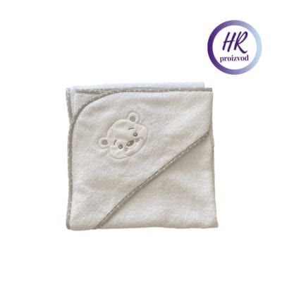 Pamučni ručnik sa kapuljačom – Bijeli