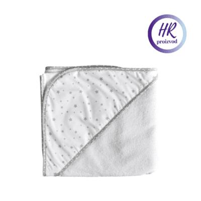 Pamučni ručnik sa kapuljačom – Sive zvjezdice