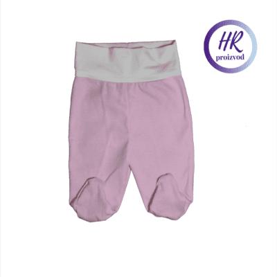 Baby hlače sa stopalicama – roza