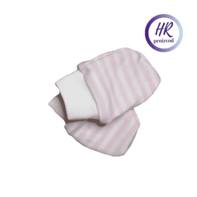 Baby rukavice – bijelo roze pruge