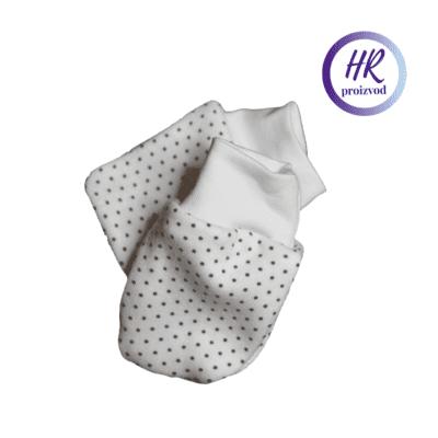 Baby rukavice – krem s točkicama