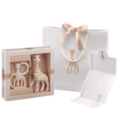 Žirafa Sophie poklon set s prstenom za zubiće