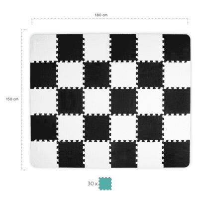 Kinderkraft LUNO puzzle – crne