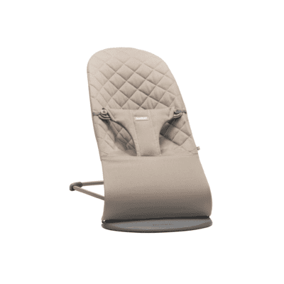 BabyBjörn ležaljka Bliss – Sand Grey, Cotton