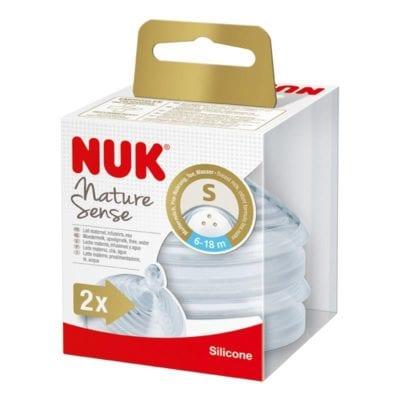 NUK NS Sisač silikonski 6-18M S3 rupe 2/1 (10125024)