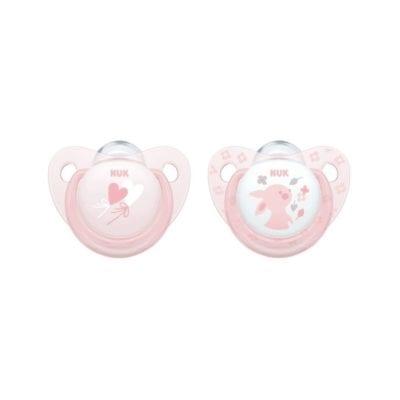 NUK duda silikon baby rose 0-6M 2/1 (10730050)