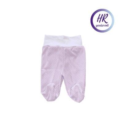 Baby hlače sa stopalicama – lila