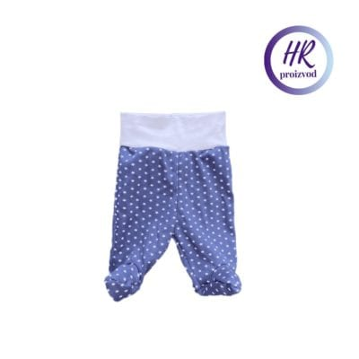 Baby hlače sa stopalicama – plave sa zvjezdicama