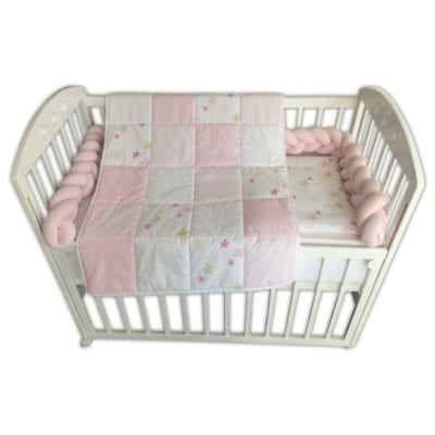 Komplet posteljina Roza pletenica