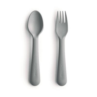 Mushie žlica&vilica – Sage