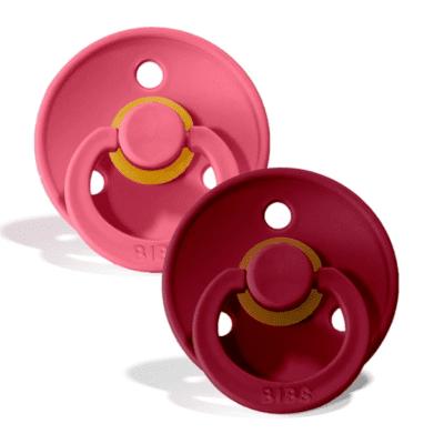 BIBS 2 pack – Coral/Ruby