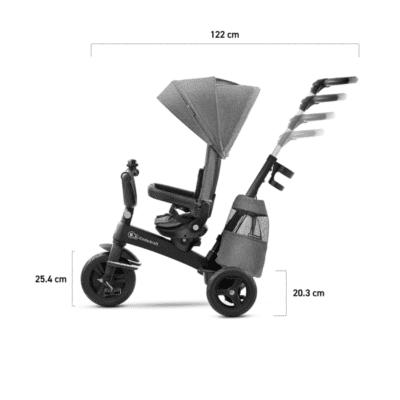 Kinderkraft tricikl Easytwist siva