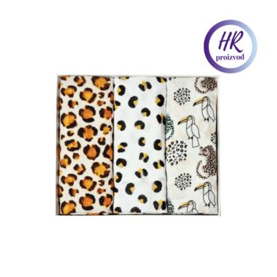 Tetra pelene 3/1 100% organski pamuk – Jungle and leopard